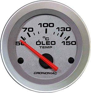 Termômetro Óleo ø52mm 12V com Sensor - Racing | Cronomac