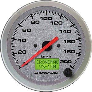 Velocímetro 200km/h ø100mm Eletrônico Racing | Cronomac