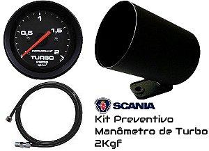 Kit  Preventivo Turbo 2KGF/CM² ø60mm + Mangueira + Copo Plástico - Street/Preto | Cronomac