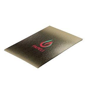Papel Lamicote Ouro Texturizado 255G com 10 folhas A4