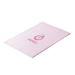 Papel Perolizado Listras Fina Rosa 180G C/ 20 Folhas A4