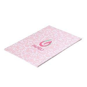 Papel Perolizado Renda 1 Rosa 180G C/ 20 Folhas A4