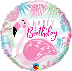 Flamingo Rosa de Aniversário