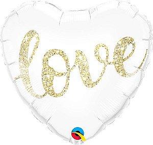 Amor com Purpurina Ouro