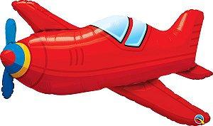 Avião Antigo Vermelho