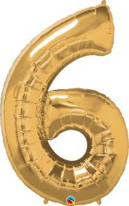 Número Seis - Ouro metálico