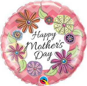 Mother's Day Floral Chevron