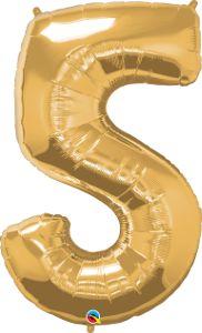Número Cinco - Ouro metálico