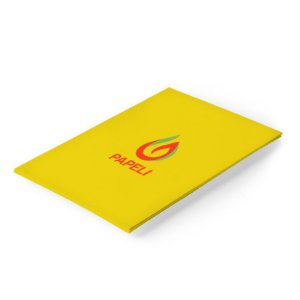 Papel Pop'set Citrus Yellow A4 170g. 20 Folhas