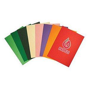 Kit Color Plus Pacote com 500 folhas A4 180g  (Papel Colorido na Massa)
