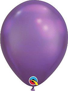 Balão De Látex Roxo Chrome