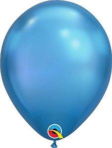 Balão  De Látex Azul Chrome - 1 Unidades