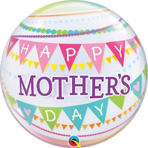 Balão Bubble Transparente Mother's Day Pennants