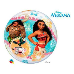Balão Bubble Transparente Disney Festa Moana - 22'' 56cm - Qualatex