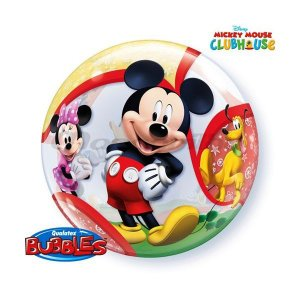 Balão Bubble Transparente Disney Mickey - 22'' 56cm - Qualatex