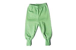 Calça verde com pé
