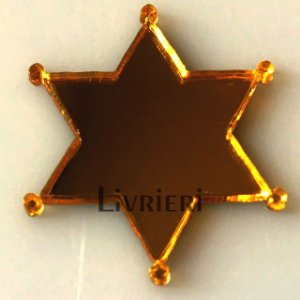 Aplique/Pingente/Recorte - Estrela Xerife c/ 10 unidades