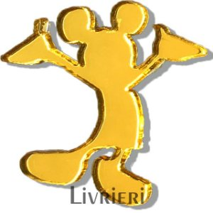 Aplique/Pingente/Recorte - Mickey (corpo) c/ 10 unidades