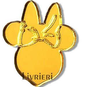 Aplique/Pingente/Recorte - Minnie (Rosto) c/ 10 unidades