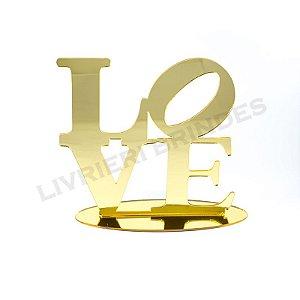 Enfeite de Mesa / Topo de Bolo - Love