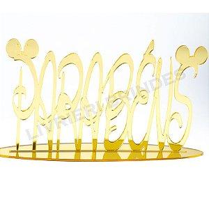 Enfeite de Mesa / Topo de Bolo - Disney Parabéns