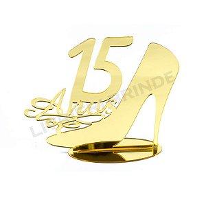 Enfeite de Mesa / Topo de Bolo - Sapato 15 anos