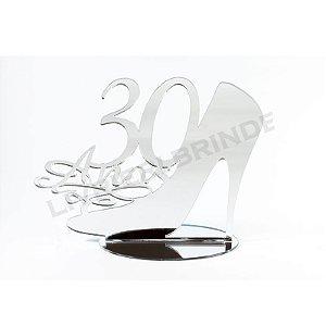 Enfeite de Mesa / Topo de Bolo - Sapato 30 anos