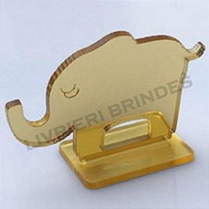 DUPLICADO - Aplique 5cm Acrílico Espelhado Elefante Com Base