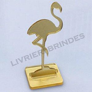 Aplique 5cm Acrílico Espelhado Pelicano Com Base
