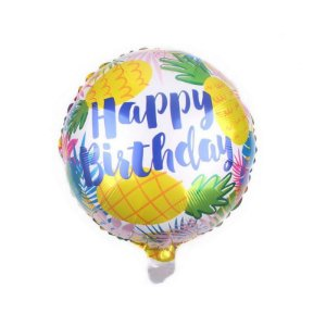 Balão Happy Birthday Estampa Abacaxi