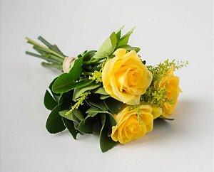 Buquê Trio de Rosas Amarelas