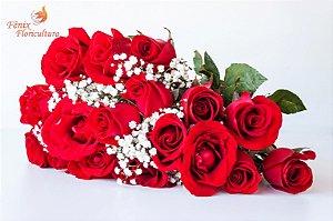 Buquê tradicional de 18 Rosas Vermelhas