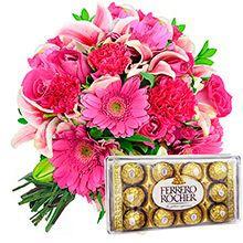 Luxuoso buquê de flores pink