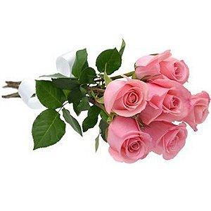 Buquê de rosas cor de rosa com rosas Premium
