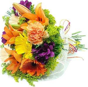 Buquê elegante de flores nobres