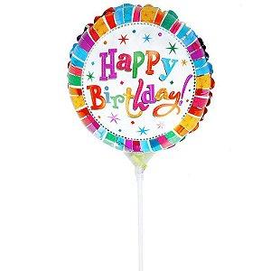 "Balão Pequeno ""Happy Birthday"""