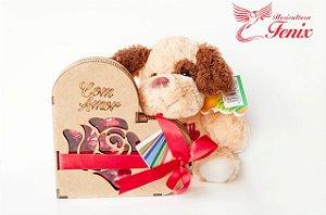 Cachorro com Chocolate de Coração