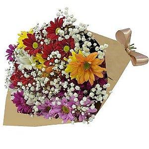 Buquê mix de flores silvestres