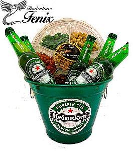 Balde Grande de Cerveja Heineken com Amendoim