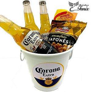 Balde De Cerveja Corona Extra e Petiscos