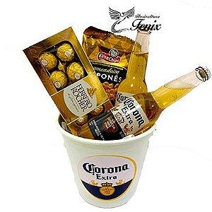 Balde De Cerveja Corona Extra e Ferrero Rocher