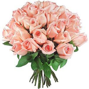 Buquê de 24 rosas cor de rosa ou pink