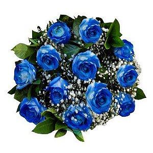 Buquê de Rosas Azuis com Egípcios
