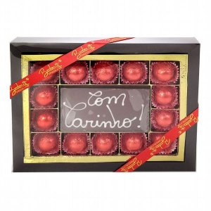 Luxuoso Card de bombons de chocolate ao leite