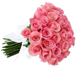 Buquê de 36 rosas cor de rosa