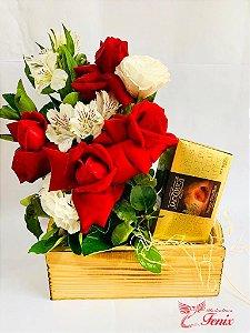 Luxuoso Arranjo de Rosas e Trufas Belgas