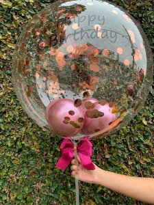 "Balão Bubble ""Happy Bithday!"""