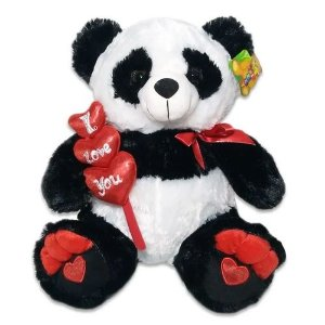 "Urso Panda ""I Love You"" Grande"