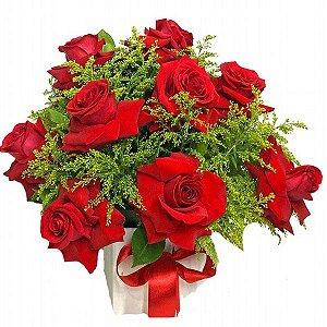 Buquê de 12 rosas Colombianas