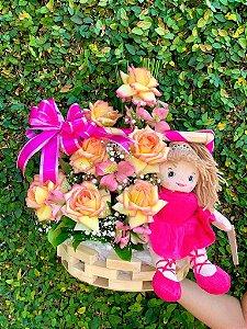 Cesta de Rosas Princess